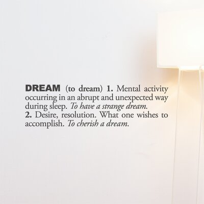 ADZif Blabla Dream (English) Wall Decal