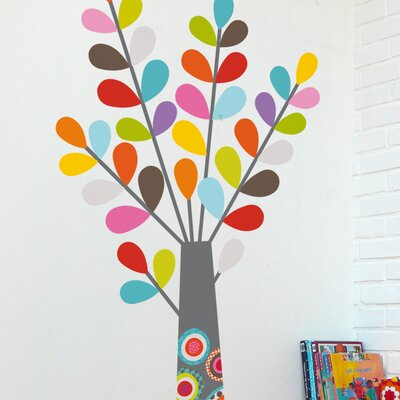 ADZif Ludo Colourful Tree Wall Decal