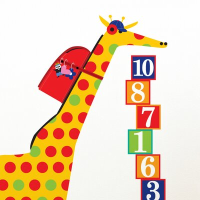 ADZif Piccolo Schooltime Giraffe Wall Decal