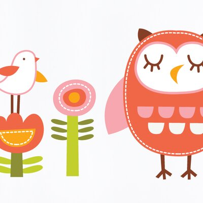 Piccolo Elena the Owl Wall Decal