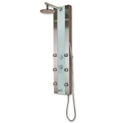 Pulse Showerspas Paradise Stainless Steel Shower Panel