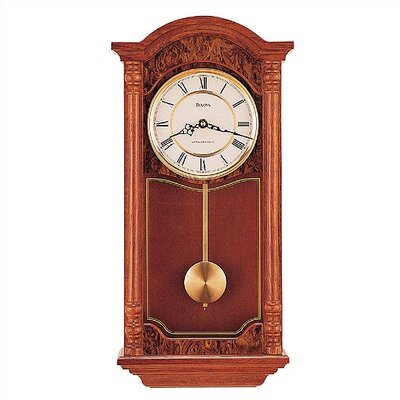 Bulova edenhall pendulum wall clock reviews wayfair for Bulova pendulum wall clock