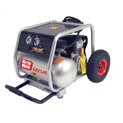 Grip-Rite 4 Gallon 2.5 HP Single Tank Air Compressor with Wheels