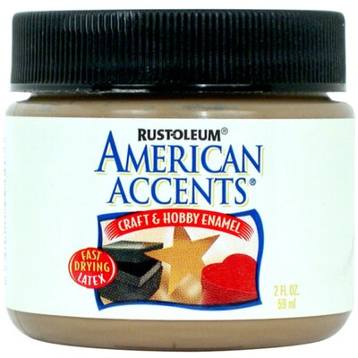 AmericanAccents American Accents® Nutmeg Craft and Hobby Brush Enamel Paint