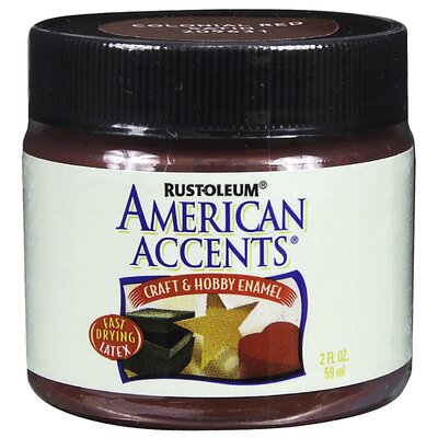 AmericanAccents American Accents® Colonial Red Craft and Hobby Brush Enamel Paint