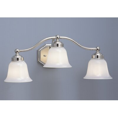 Norwell Lighting Trevi Three Light Bath Vanity with Bell Shade