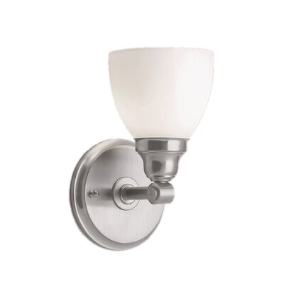 Norwell Lighting Kentfield 1 Light Wall Sconce with Shiny Opal Shade