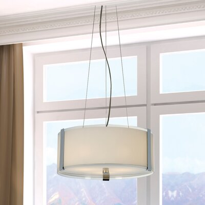 Trend Lighting Corp. Apollo 3 Light Large Drum Foyer Pendant
