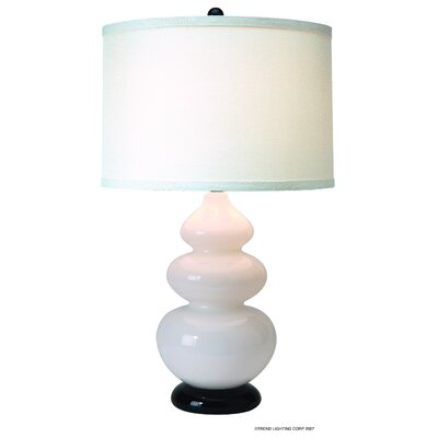 Trend Lighting Corp. Diva One Light Table Lamp in Ebony Lacquer