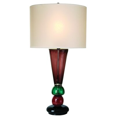 Trend Lighting Corp. Carnival One Light Table Lamp in Ebony Lacquer