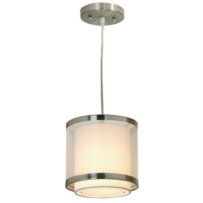 Lux 1 Light Medium Drum Foyer Pendant