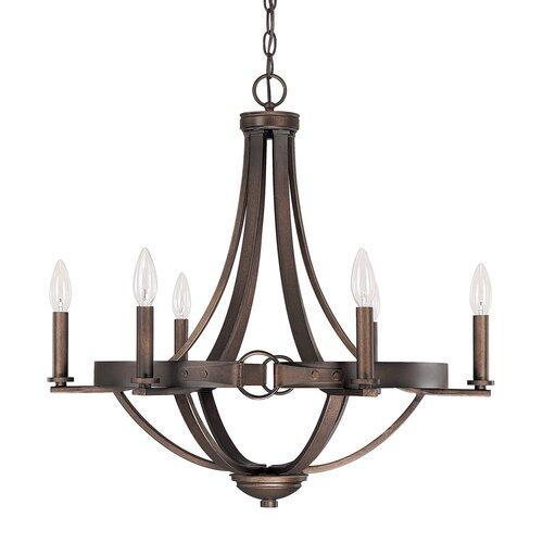 Capital Lighting Chastain 6 Light Chandelier