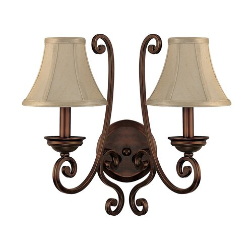 Capital Lighting Cumberland 2 Light Wall Sconce with Shade