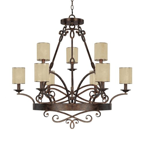 Capital Lighting Reserve 9 Light Chandelier