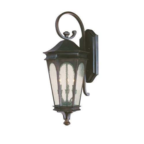 Capital Lighting Inman Park Traditional 3 Light Outdoor Wall Lantern