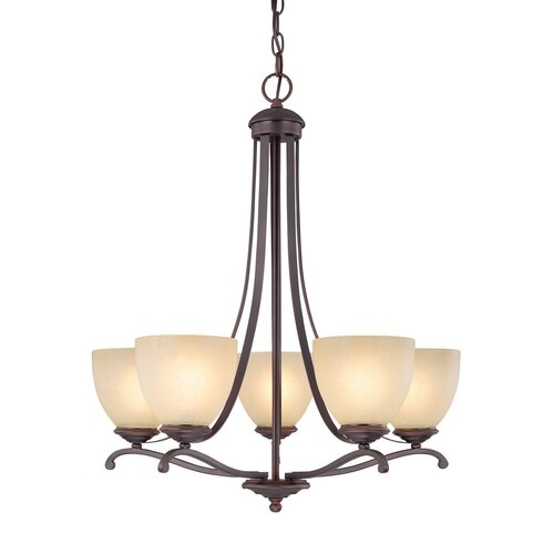 Capital Lighting Chapman 5 Light Chandelier