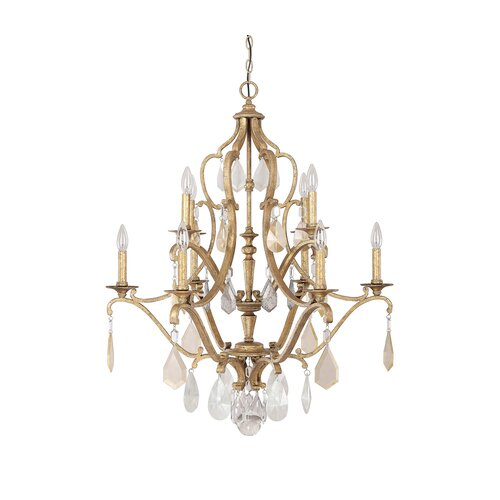 Capital Lighting Blakely 10 Light Crystal Chandelier