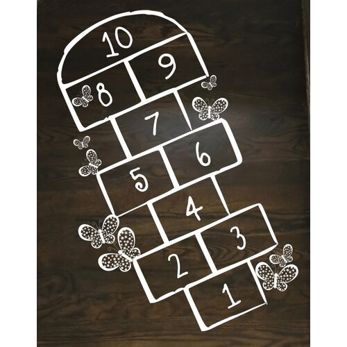 Alphabet Garden Designs Hopscotch Wall Decal