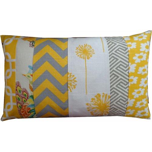 Zebra Pieces Daisy Pillow