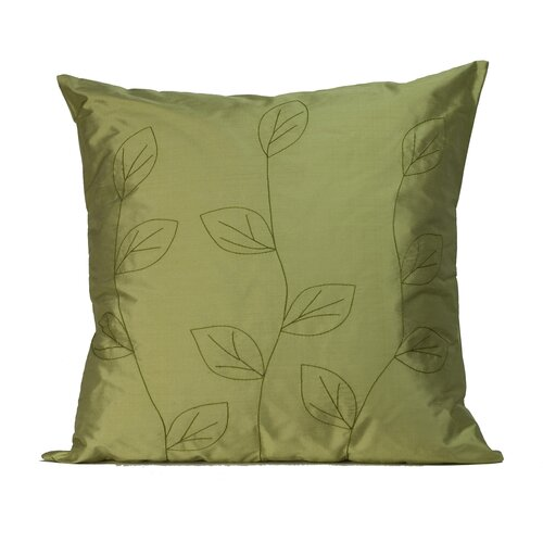 Leaves Square Silk Decorative Pillow
