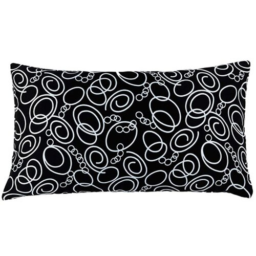 Faux Silk Decorative Pillow in Black and White