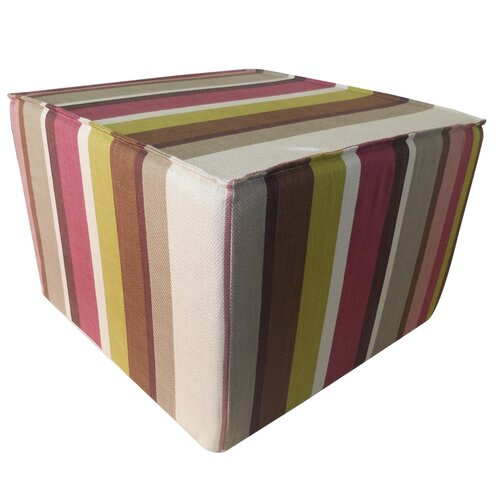 Jiti Hosta Stripes Cotton Cube Ottoman