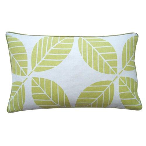 Tiki Leaves Linen Pillow