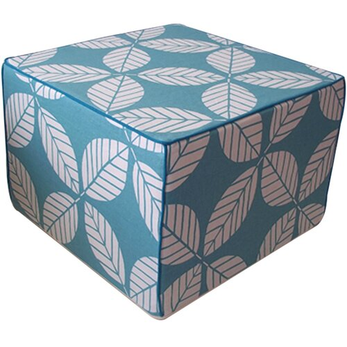 Tiki Leaves Cube Ottoman