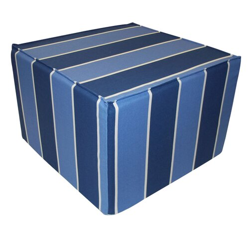 Blueberry Stripes Ottoman