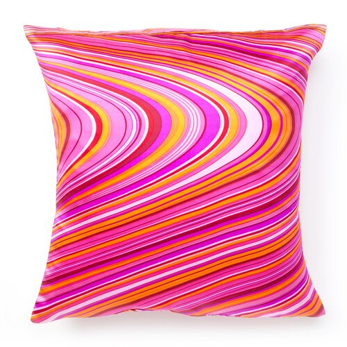 Jiti Psychedelic Square Silk Decorative Pillow