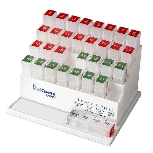 MedCenter System 31 Day Pill Organizer
