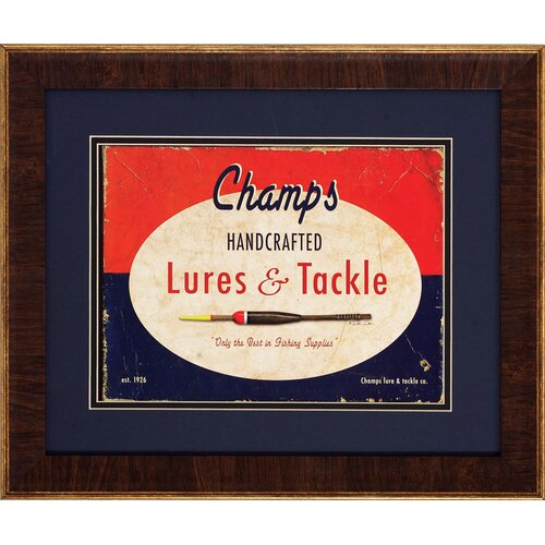 Hendersons Champs 2 Piece Framed Vintage Advertisement Set