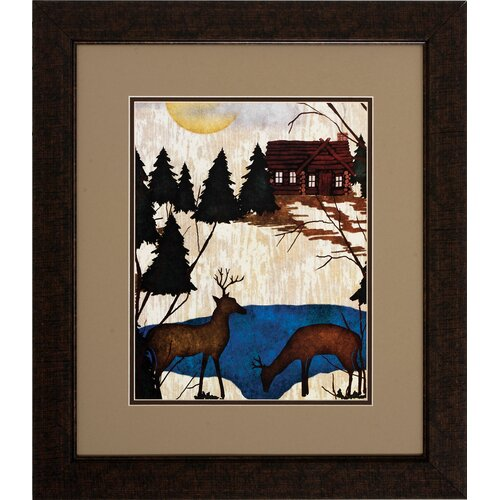Cabin In Woods 2 Piece Framed Graphic Art Set