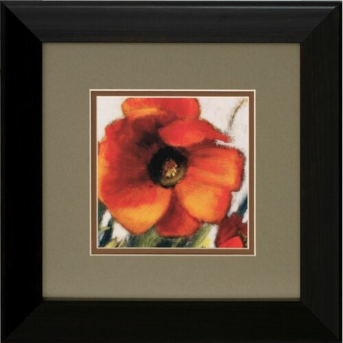 Propac Images Poppy Splendor I / II 2 Piece Framed Painting Print Set