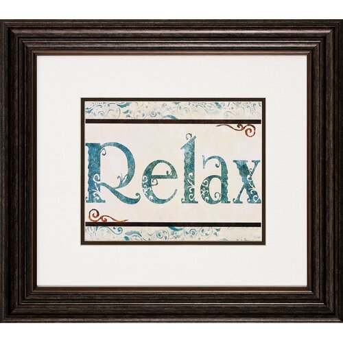 Propac Images Bath / Relax 2 Piece Framed Textual Art Set