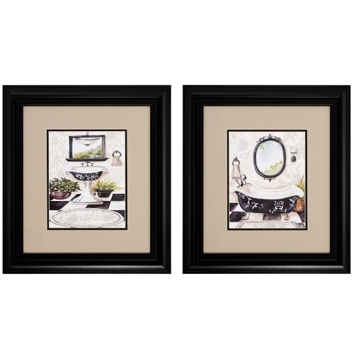 Propac Images Bath I/II 2 Piece Framed Painting Print