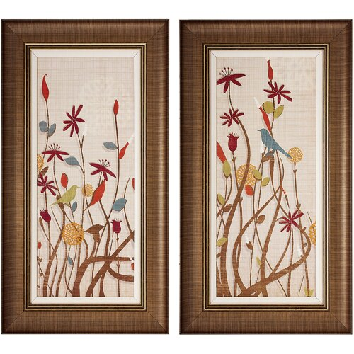 Meadow I and II 2 Piece Framed Painting Print Set (Set of 2)