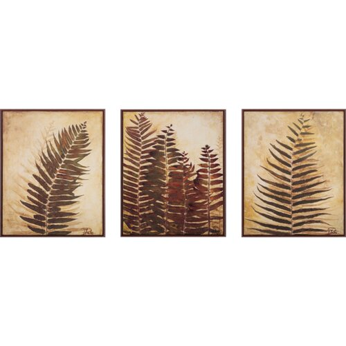 Propac Images Ferns I and II and III 3 Piece Framed Painting Print Set