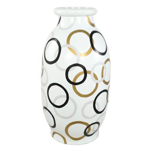Modern Circles Round Decorative Vase
