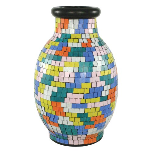 Mosaic Painter's Palette Round Vase