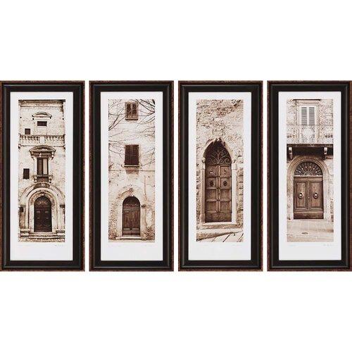 La Porta by Blaustein 4 Piece Framed Painting Print Set (Set of 4)
