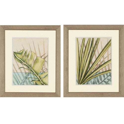 Tropical Shade I by Harper 2 Piece Framed Painting Print Set
