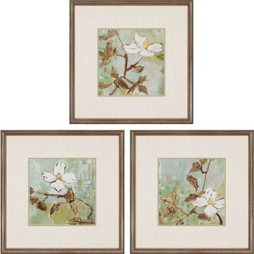 White Trellis by Lady 3 Piece Framed Graphic Art Set