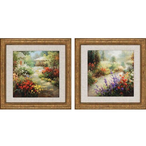 Spring Print by Oxley Framed 2 Piece Original Painting Set