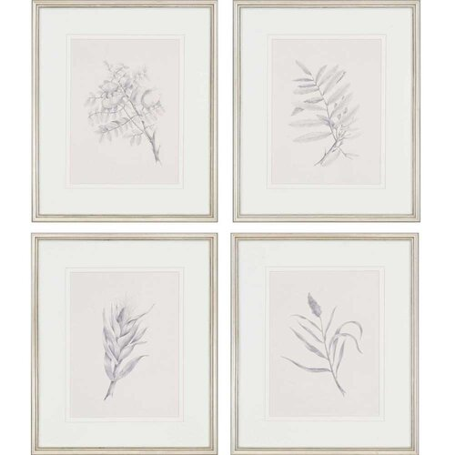 Foliage by Mendez 4 Piece Framed Graphic Art Set