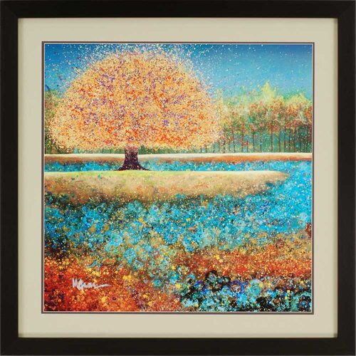 Jewel River by Grave-Brown Framed Painting Print