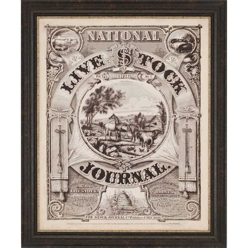 Live Stock Journal Framed Vintage Advertisement