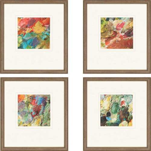 Palette Giclee by Sikes 4 Piece Framed Painting Print Set