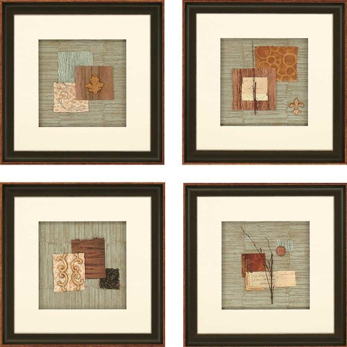 Nature Collage by Anonymous 4 Piece Framed Painting Print Set