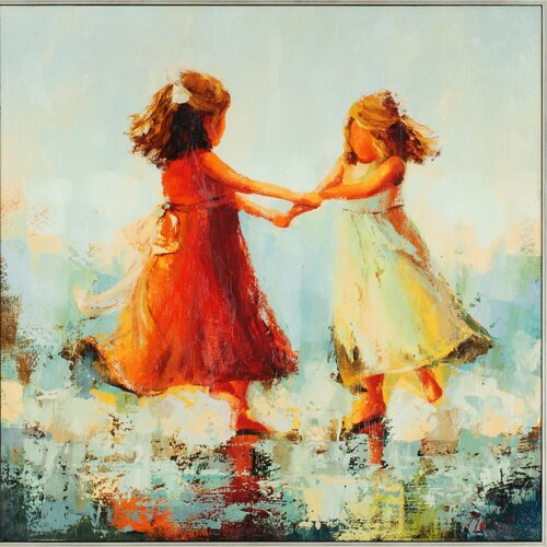 Paragon Circle of Two by Nesbit Painting Print on Canvas